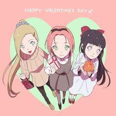 ino sakura hinata valentine's day