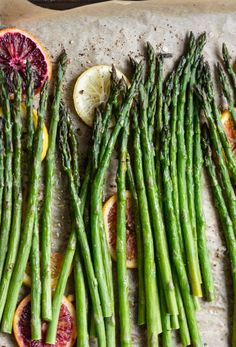 Roasted Asparagus with Blood Orange Vinaigrette from http://www.thetomatotart.com