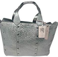 1817e64d5aa8 Jimmy Choo Lockett Shopper Platinum Leather Tote - Tradesy Jimmy Choo