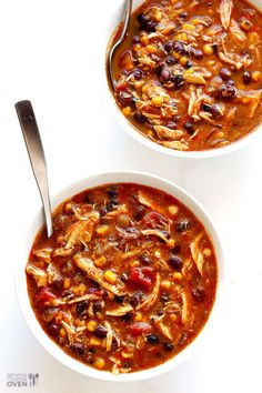 This slow cooker chicken enchilada soup recipe only takes about 10 minutes of prep time, and it is oh-so-delicious and comforting. Slow Cooker Tacos, Slow Cooker Soup, Slow Cooker Chicken, Slow Cooker Recipes, Cooking Recipes, Crockpot Recipes, Easy Chicken Recipes, Soup Recipes, Dinner Recipes