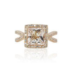 Princess Cut Morganite Ring — LS3549