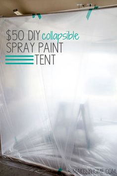 Looking for a way to contain your paint overspray? Try this easy collapsible spray paint tent. Diy Paint Booth, Spray Paint Booth, Spray Painting, Painting Tips, Painting Techniques, Painting Art, Spray Paint Furniture, Furniture Makeover, Painted Furniture