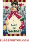 Let it Snow! House Flags, Flag Decor, Let It Snow, Garden Flags, Advent Calendar, Folk Art, Snowman, Christmas Ornaments, Country