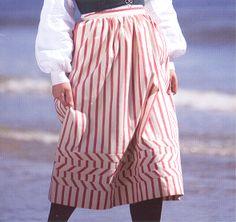 Underskirt for vest agder bunad Kristiansand, Regional, Folklore, Norway, Scandinavian, Vest, Costumes, Skirts, Fashion