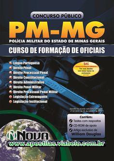 Concurso Polícia Militar MG 2012 - Apostila ingresso ao CFO  (R$55.90)