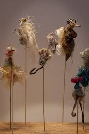 Part of installation Sirius Passet, Milja Viita / made of trash etc. found from beaches in Togo/Benin and Finland