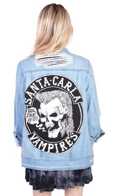Lost Boys Jacket #disturbiaclothing disturbia distressed denim santa carla vampires alien goth occult grunge alternative