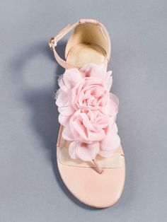 pink sandals with roses