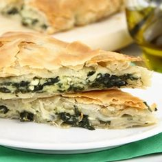 Spanakopita Spanakopita is a traditional Greek pie made with layers of crisp flaky filo pastry filled with a mixture of spinach, ricotta cheese and Feta cheese. Serve it as a main course with salad or as a starter Greek Spinach Pie, Spinach And Feta, Greek Recipes, Pie Recipes, Cooking Recipes, Spanakopita Recipe, Cheese Pie Recipe, Filo Pastry, Vegetarian Thanksgiving