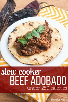 If you have ever had smoky, spicy beef adobado or beef barbacoa, this recipe will help you make it at home and it will taste better than what you have had in restaurants. Best Slow Cooker, Slow Cooker Beef, Slow Cooker Recipes, Crockpot Recipes, Cooking Recipes, Healthy Recipes, Kitchen Recipes, Cooking Beef, Skinny Recipes