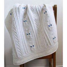 Little Owl Baby Blanket Crochet pattern by Little Squirrel Designs | Crochet Patterns | LoveCrochet