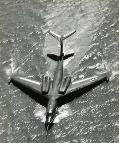 "Martin P6M SeaMaster - Part of the Navy's ""dispersal plan"" a prototype bomber to be paired with the fighter of the same concept the Convair F2Y Sea Dart"