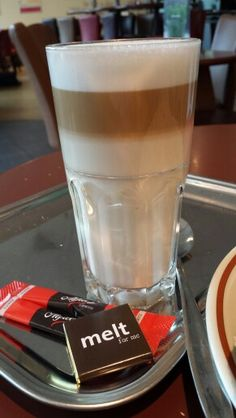 Latte macchiato , should be done on a much larger cup than the cappuccino