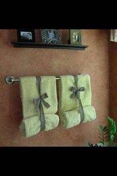 Diy Decorative Bath Towel Storage Inspiration Using Two