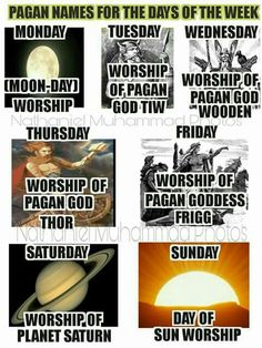 Pagan names of the days of the week