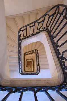 Musée Carnavalet by Hotels Paris Rive Gauche, via Flickr Winding Stair, Musee Carnavalet, Rive Gauche, Spiral Staircase, Paris Hotels, Paris France, Stairs, Castle, Mood