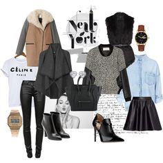 """Exploring New York Fashionably"" by marikosakagawa on Polyvore Don't know what to wear in New York City ? Check out my blog lefleurjolie.wordpress.com to check out the description of this style to NYC !"