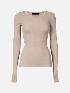 Savi stickad tröja | | Brun | BikBok | Sverige