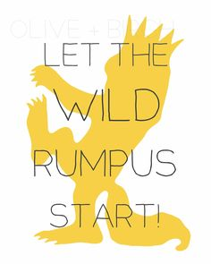 Where the Wild Things Are Nursery Printable, Wild Rumpus. $4.50, via Etsy.