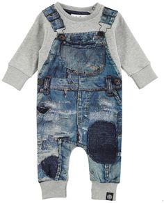 Molo Kids Freddy Bodysuit Molo Kids Freddy Bodysuit $60 AT BLUE & CREAM Copy Link Copy QR Embed Code Available Colors: 5308 Japanese Denim Available Sizes: 56 (Newborn) ,62 (3 Months) ,68 (6 Months) ,74 (9 Months) This adorable bodysuit creates the illusion of denim overalls worn over a sweatshirt with its lifelike denim print, but maintains its cozy sweatshirt material throughout. Snap closure at the neck and crotch allow for easy on and off access. | Boys | baby | Toddler | Fashion