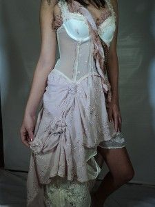 Made from curtains and a corset!