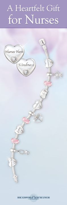 Is there a nurse who means the world to you? This beautiful bracelet showcases 11 distinctive charms to symbolize the many important tenants of a nurse's calling and it features genuine Swarovski crystals for a sparkling touch.
