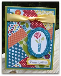 Fun collage cards, use up your scraps!