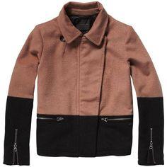 New Biker Coat ($160) ❤ liked on Polyvore