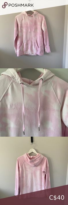 Bleach Dyed Pink Champion Hoodie Bleach Dyed Pink Champion Hoodie Size Small Barley worn In great condition Champion Tops Sweatshirts & Hoodies Pink Champion Hoodie, Bleach Dye, Tie Dye Sweatshirt, Yellow Ties, Plus Fashion, Fashion Tips, Fashion Trends, Grey Hoodie