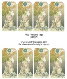 Sweetly Scrapped: Free Printable Victorian Girl Tags