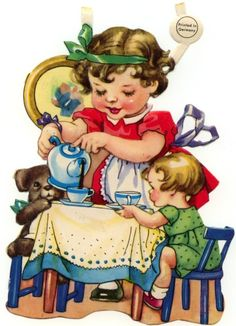 Who among us has not poured a cup of tea for a favorite doll or teddy bear? -cc