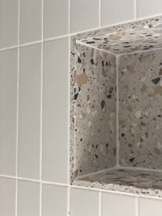 How to create a modern impactful bathroom with Mandarin Stone | Mandarin Stone Bathroom Inspo, Bathroom Inspiration, Modern Bathroom, Small Bathroom, Master Bathroom, Mandarin Stone, Terrazzo Tile, Bathroom Renos, Bathroom Interior Design