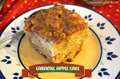 Caramel Apple Cake Recipe - Perfect Cake for All Year Round!   http://couponsavvysarah.blogspot.com/2015/02/caramel-apple-cake-recipe-perfect-cake.html