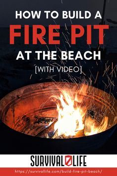 Fire pits are incredibly fun to build– especially down at the beach! Whether you're having a bonfire, cooking food, or using it as a light source when night falls– bonfires are always a nice touch when you build it yourself or with the crew! #survivallife #survival #preparedness #survivalist #prepper #camping #beach #beachcamping #firepit #spring Survival Hacks, Survival Life, Survival Prepping, Survival Skills, Fall Bonfire, How To Build A Fire Pit, Bonfires, Beach Camping, Cooking Food