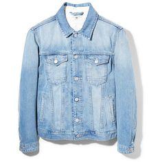 Light Wash Denim Jacket (31 CAD) ❤ liked on Polyvore