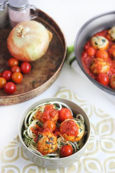 """These delicious meatballs are healthy and perfectly packed with flavor. Spaghetti and meatballs, anyone? Indulge in a healthy version with zucchini linguine or spaghetti squash as a clean healthy alternative to the real thing (tastes even better, in my opinion)!  Related Posts: Spaghetti Squash Boats with Homemade Meat Sauce Salmon alla Puttanesca """"Pasta"""" Primavera …"""