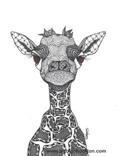 Tangled Baby Giraffe...Jo Flockton...TAC