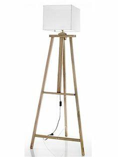 Lampe mit Staffelei Schiene Imposante Stehlampe mit einer Staffeleischiene für Bilder.