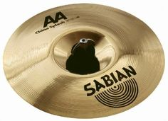 """Sabian 8-inch China Splash AA Cymbal by Sabian. $95.00. SABIAN 8"""" AA China Splash in Natural Finish is all about rapid, splashy response with a bright, trashy edge. It also stacks easily over other cymbals. The SABIAN AA series is all about classic sounds. Rock. Funk. Jazz. Blues. It's about tradition, about what made history. And it's about making history again. Bright, explosive energy, the vintage bright sound for today."""