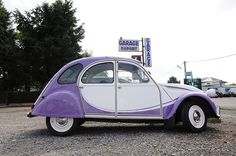 2CV Milka (Citroen) by Hans Kool, via Flickr ~ WOW!!!...lots of memories, we use to pack 6 of us in this car...(time of no rules and no seat belts)