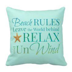 Beach Rules Pillow: http://www.beachblissdesigns.com/2015/06/beach-rules-pillow.html