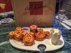 Mickey Waffles at Cafe Fantasia, Disneyland Paris