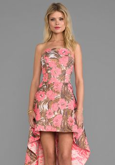 Alexis Madame Dress in Metallic Rose