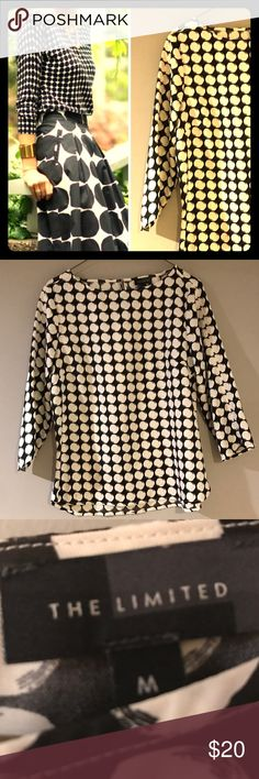 3/4 Circle Blouse 100% polyester Express Blouse. Great for the office and to mix it up with colorful pants and skirts. Express Tops Blouses