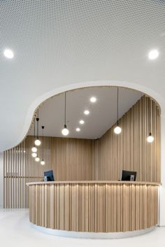 wood Interior Lobby Reception Desks is part of Lobby design - Welcome to Office Furniture, in this moment I'm going to teach you about wood Interior Lobby Reception Desks Design Hotel, Coperate Design, Hotel Bedroom Design, Lounge Design, Design Room, Design Ideas, Curve Design, Hall Design, Design Styles