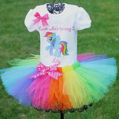 My Little Pony Rainbow Dash Tutu by LorisLittleLovlies on Etsy My Little Pony Party, Fiesta Little Pony, Cumple My Little Pony, Rainbow Dash Party, Rainbow Tutu, First Birthday Tutu, 1st Birthday Parties, Girl Birthday, Birthday Ideas