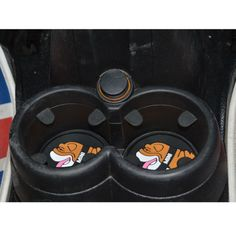 3 pcs set Cup Coaster for NEW Mini Cooper F55 2015 Bulldog style Cup Holder