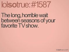 The long, horrible wait between seasons of your favorite TV show. Pretty little liars! Lying Game, Sir Anthony Hopkins, Lolsotrue, True Blood, It Goes On, Fan Art, I Can Relate, Sam Dean, Story Of My Life