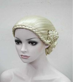 Granny anime COS m blonde wig Xinjiang plait Bohemian European and American middle-aged and old handsome wig