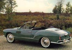 1962, Green Volkswagen Karmann Ghia Convertible.